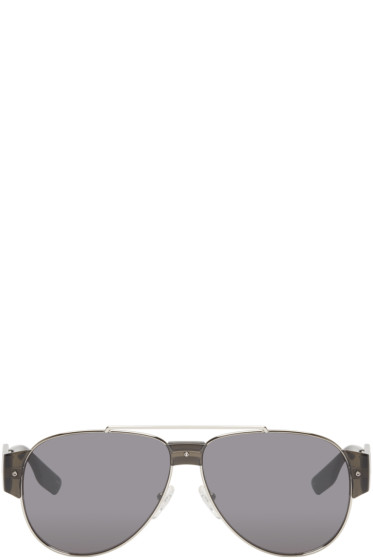 McQ Alexander Mcqueen - Silver Aviator Sunglasses