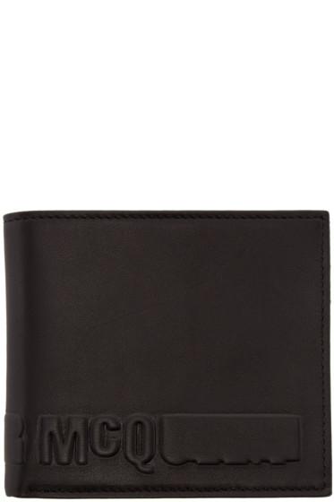 McQ Alexander Mcqueen - Black Embossed Logo Wallet