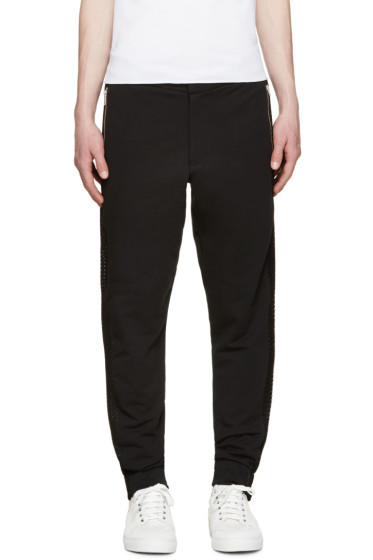 McQ Alexander Mcqueen - Black Mesh Panel Trousers