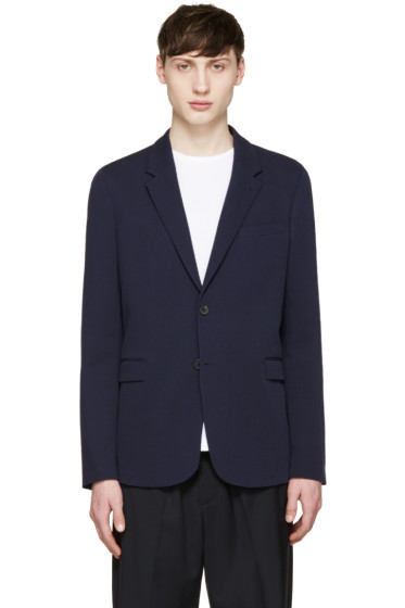 McQ Alexander Mcqueen - Navy Cotton Blazer