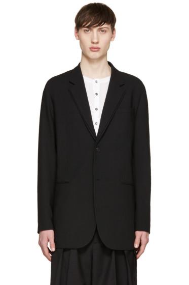 McQ Alexander Mcqueen - Black Layered Collar Blazer