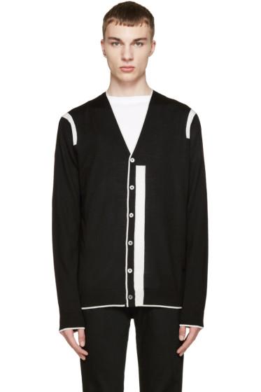 McQ Alexander Mcqueen - Black & White Color Tip Cardigan