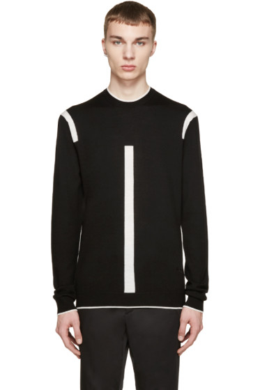 McQ Alexander Mcqueen - Black & White Color Tip Pullover