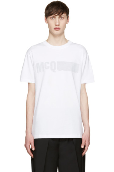 McQ Alexander Mcqueen - White Reverse Logo T-Shirt