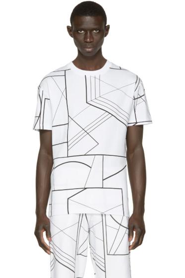 McQ Alexander Mcqueen - White & Black Geometric T-Shirt