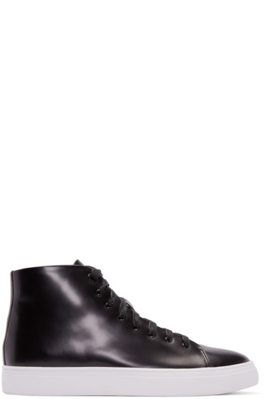 Tiger of Sweden - Black Patent Leather Yngve High-Top Sneakers