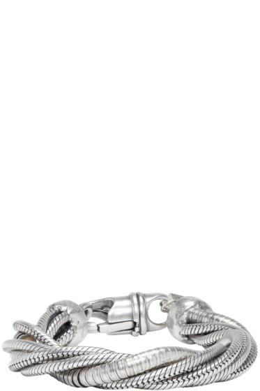 Goti - Silver Twisted Chain Bracelet