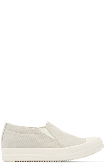 Rick Owens Drkshdw - Taupe Canvas Murray Slip-On Sneakers