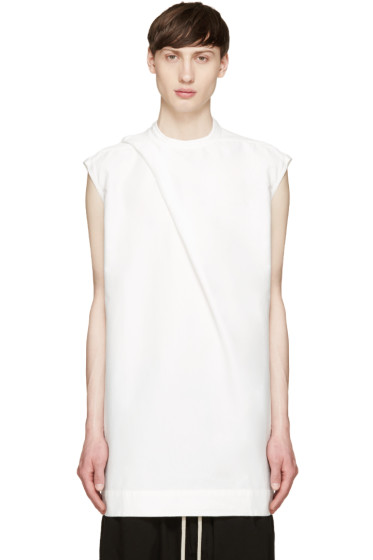 Rick Owens Drkshdw - White Hiked Tunic