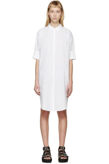 Acne Studios - White Lash Tech Pop Shirt Dress