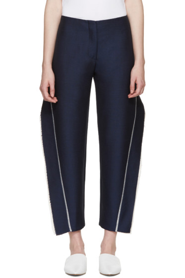 Acne Studios - Navy Fringed Harriet Trousers