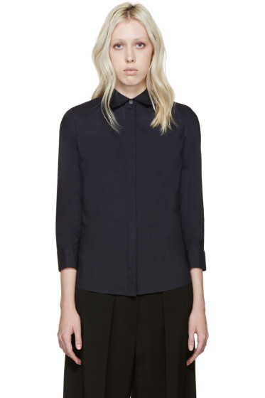 Acne Studios - Navy Poplin Gardell Shirt