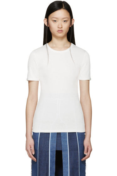 Acne Studios - White Ribbed Calypsa T-Shirt