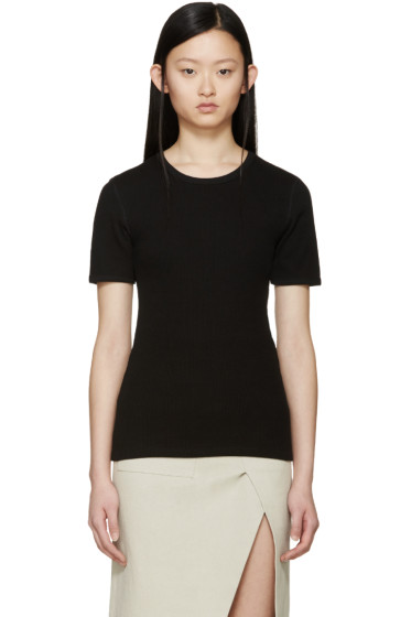 Acne Studios - Black Ribbed Calypsa T-Shirt