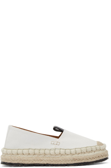 Acne Studios - White Canvas Bibiana Espadrilles
