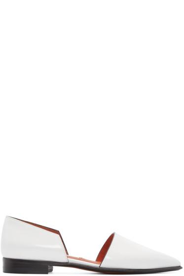 Acne Studios - White D'Orsay Madea Flats