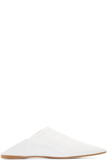 Acne Studios - White Leather Amina Flats