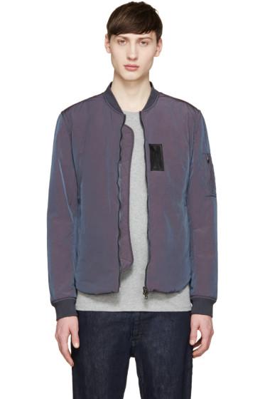 Acne Studios - Blue Iridescent Silas Bomber Jacket