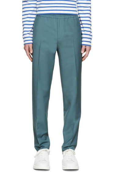 Acne Studios - Green Wool Ryder Trousers