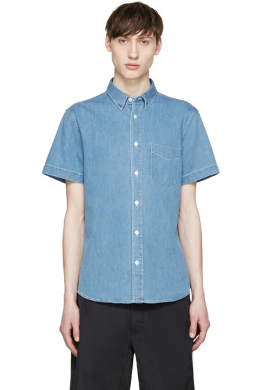 Acne Studios - Blue Denim Bleached Isherwood Shirt