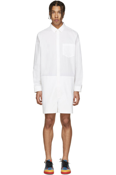 Acne Studios - White Poplin Scott Jumpsuit
