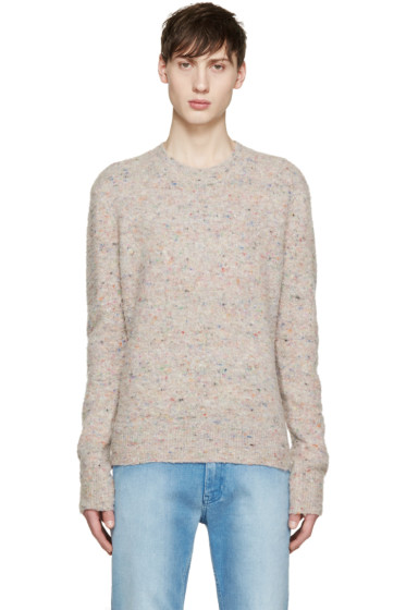 Acne Studios - Beige Peele Donegal Sweater