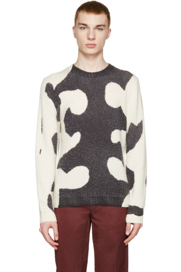 Acne Studios - Grey & Cream Peele Waves Sweater