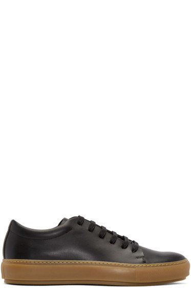 Acne Studios - Black Leather Adrian Turnup Sneakers