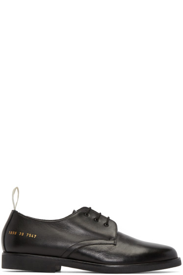 Common Projects - Black Cadet Derbys