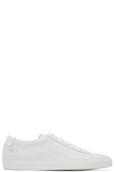 Common Projects - White Perforated Original Achilles Sneakers