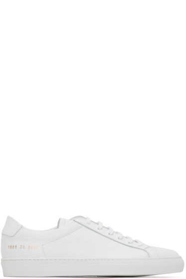 Common Projects - White Achilles Special Edition Sneakers