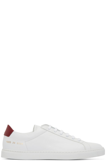 Common Projects - White Achilles Retro Sneakers