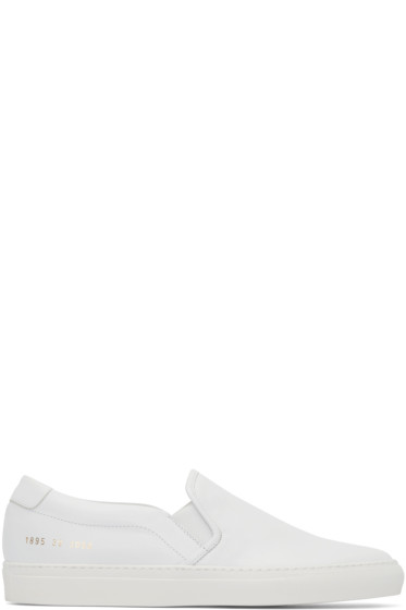 Common Projects - White Slip-On Sneakers