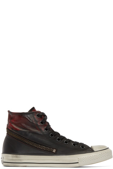 Converse by John Varvatos - Black & Red Tornado Zip High-Top Sneakers