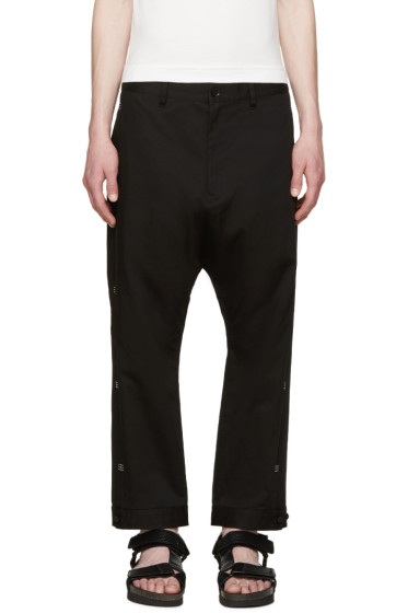 Y-3 - Black Bar Tack Trousers