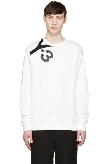 Y-3 - White Logo Pullover