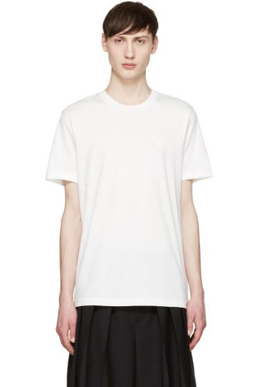 Y-3 - White Tonal Logo T-Shirt