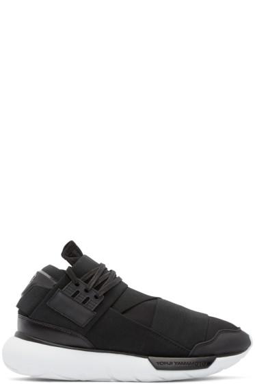 Y-3 - Black Neoprene Qasa High Sneakers
