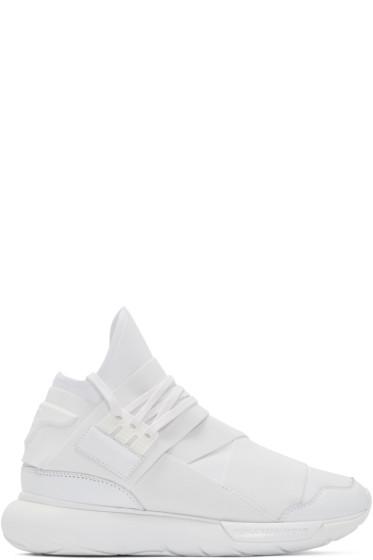 Y-3 - White Neoprene Qasa High-Top Sneakers