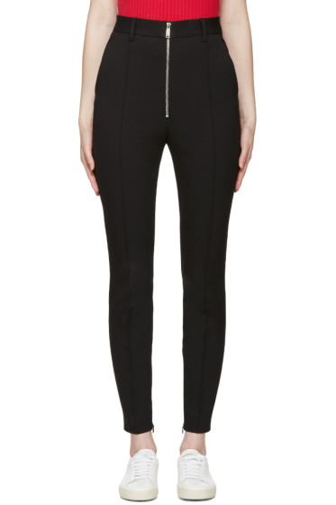 Dsquared2 - Black High-Rise Zip Trousers