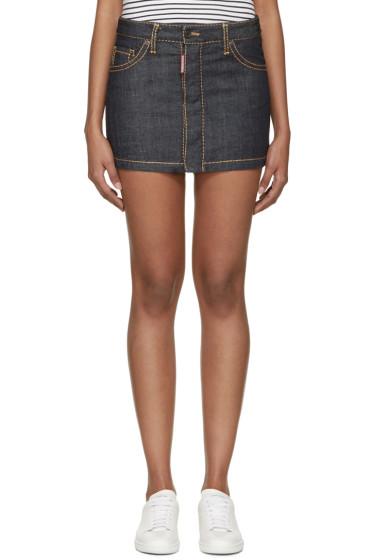 Dsquared2 - Indigo Denim Hula Miniskirt