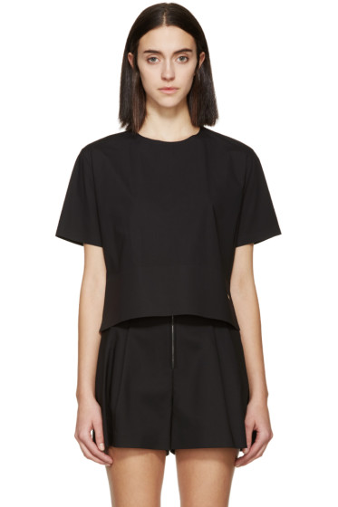 Dsquared2 - Black Poplin Mya T-Shirt