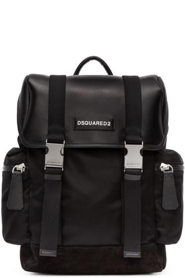 Dsquared2 - Black Leather & Nylon Backpack