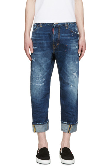 Dsquared2 - Indigo Distressed Workwear Jeans