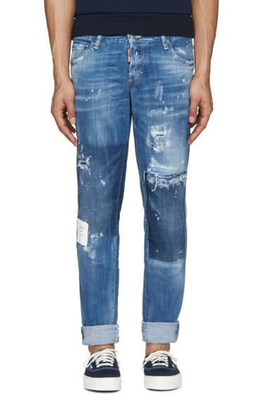 Dsquared2 - Blue Paint Splatter Jeans