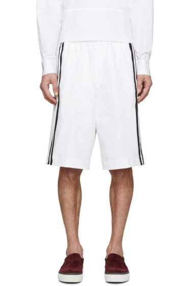 Dsquared2 - White Racing Stripe Shorts