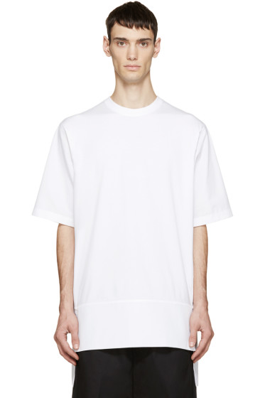 Dsquared2 - White Jersey & Poplin T-Shirt