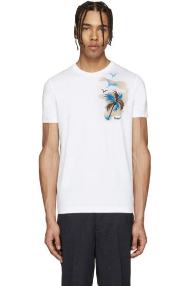 Dsquared2 - White Palm Tree T-Shirt