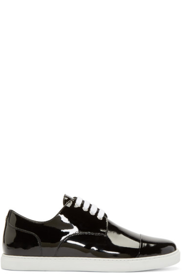Dsquared2 - Black Patent Leather Low-Top Sneakers