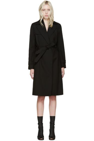 Helmut Lang - Black Poplin Trench Coat